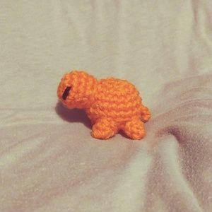 Orange Mini Turtle Plush
